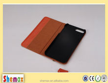 for iphone cellphone factory price pure color genuine leather case