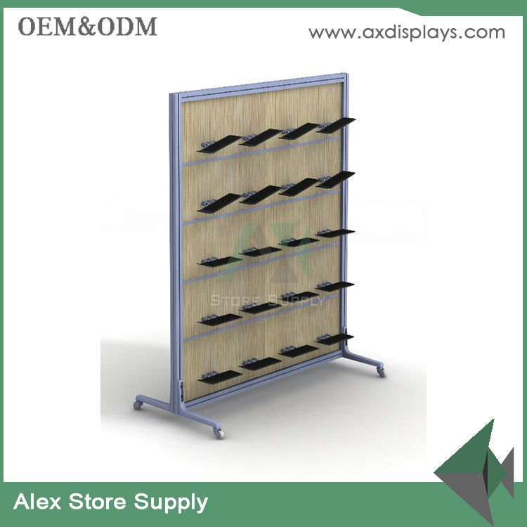 GUANGZHOU modern shoe shop fixtures interior design for sport shoes display rack