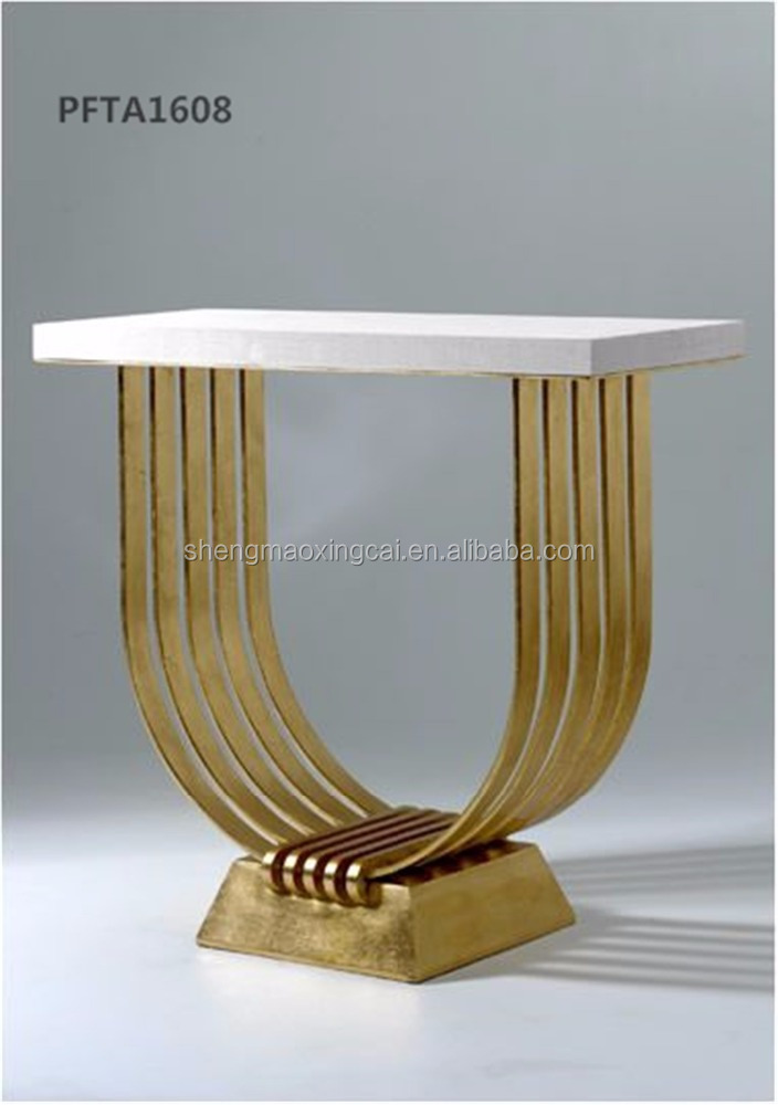 Brass mirror finish stainless steel frame coffee table for sale in guangzhou