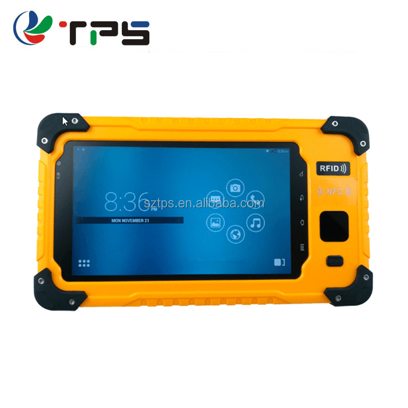 7 inch industrial rugged POE terminal rugged waterproof shockproof tablet with barcode scanner NFC RFID PDA,fingerprint tablet