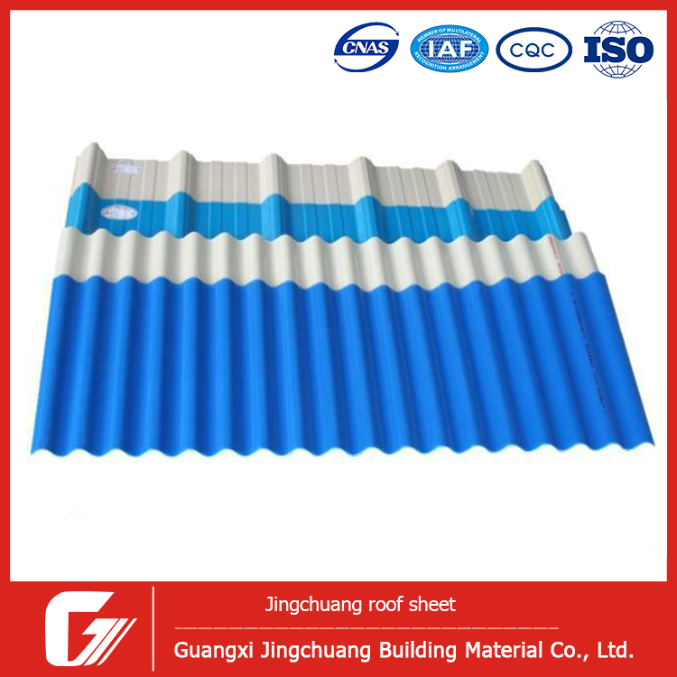 Distributor Indonesia UPVC Plastic Transparent Roofing Sheet Flashing Light Weight Spanish Tile Roof