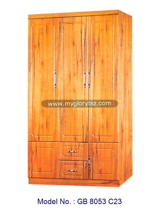 3 Doors Wardrobe Modern Designs Wooden Furniture, wooden wardrobe designs cheap closet cabinet, bedroom clothes cupboard design