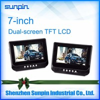 7 Inch Dual Screen Car DVD Player Headrest Monitor for Car Back Seat