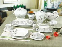 2014 modern silver and golden design germany dinner set porcelain
