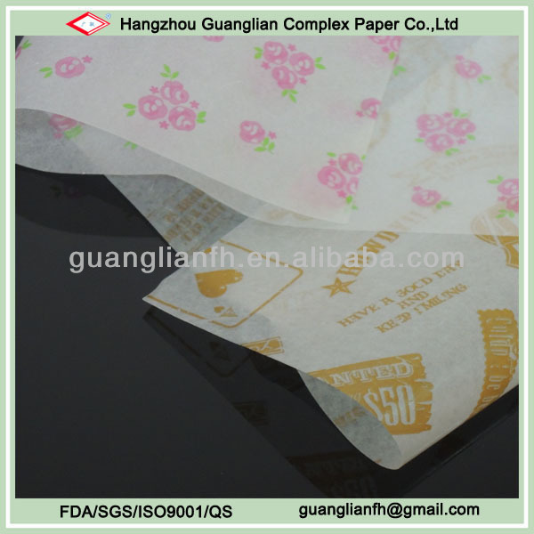 Food Grade Wax Paper for Food Wrapping