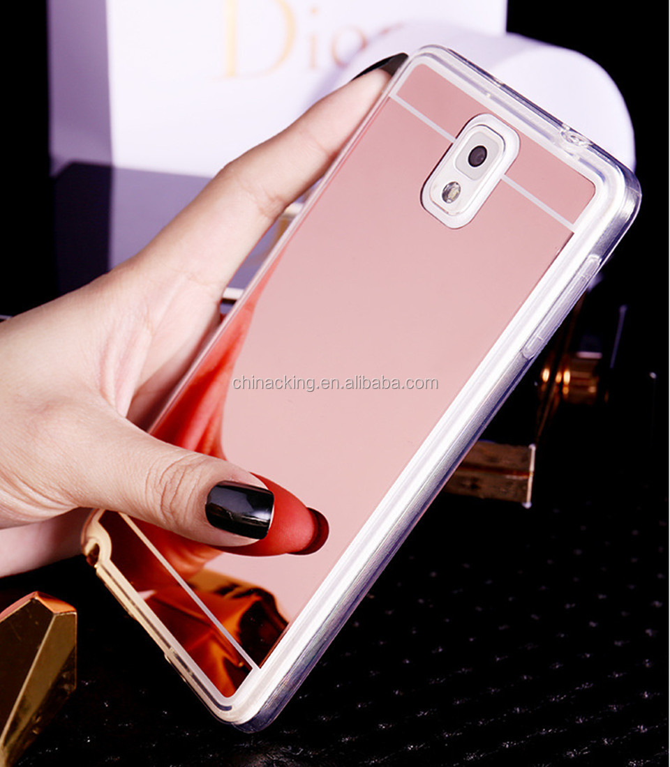 Gold Rose Gold Silver Black Luxury Plating Mirror Case Soft TPU Back Cover For Samsung Galaxy S5 Phone Case
