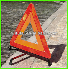 folding red plastic warning triangle