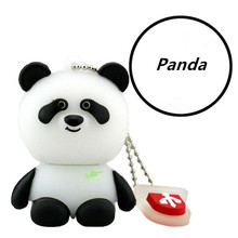 Customize Panda Shaped Cartoon Character Usb Flash Drive with Ball Chain