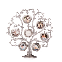Family Tree Picture Silver Plated Photo Frame Gift for Family Photo Frame