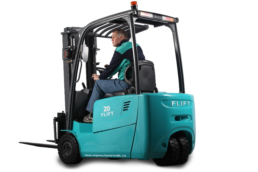 3 wheel 2 ton electric forklift with battery charger