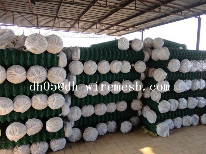 Cheap Garden Used Galvanized and PVC Chain Link Fence For Sale Factory Price