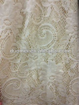 PG31 100% Chinlon Polyamide Fibre Corded French Lace Fabric