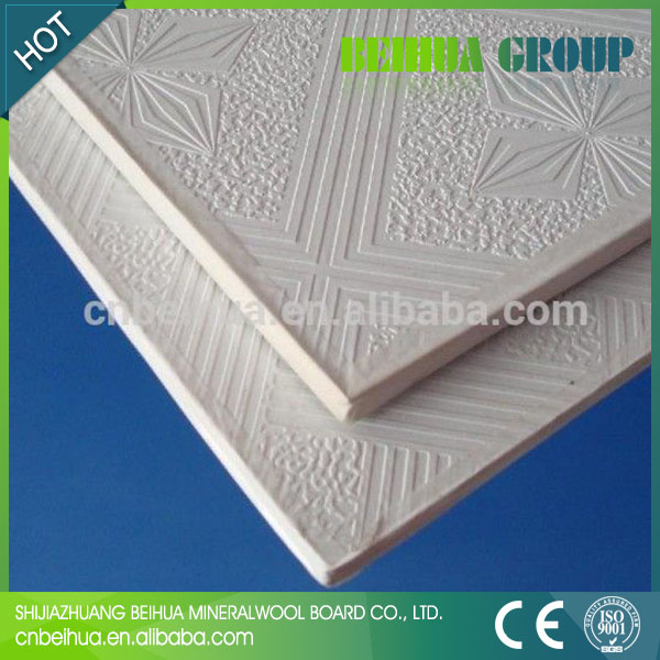 Foil Backed Gypsum Board : Pvc plaster ceiling board aluminum foil backing