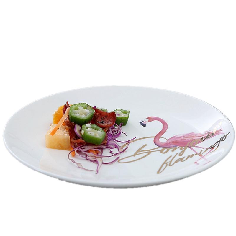 Whole Chinese Porcelain Dinner Set Hotel Restaurant Use White Ceramic Plates