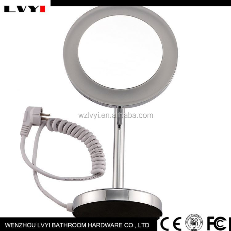 Hot promotion all kinds of led make up mirror with many colors