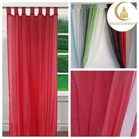 Indian style 100% polyester tap top voile curtain