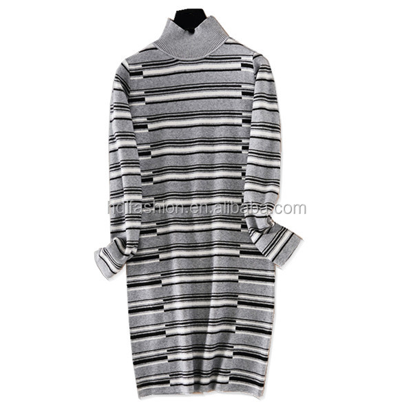 Wholesale casual stripes korean dresses new fashion lady dress