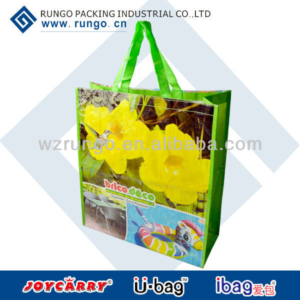 recyclable polypropylene shopping laminated pp woven bag