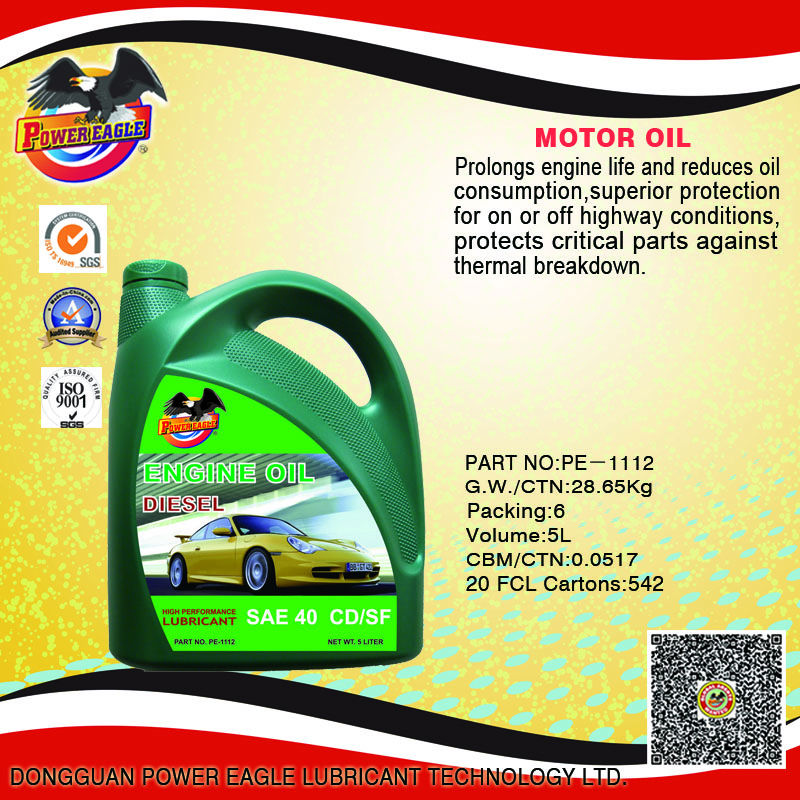 Automobile Diesel Engine Oil SAE40