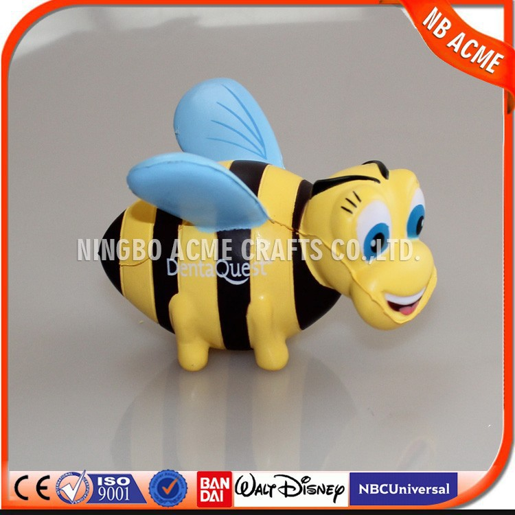 Customized OEM promotional pu toy,pu animal toy,bees pu toy