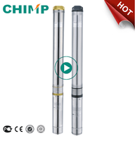 "CHIMP 4"" 4m3/h 0.5HP 380-415V stainless steel submersible water pump"