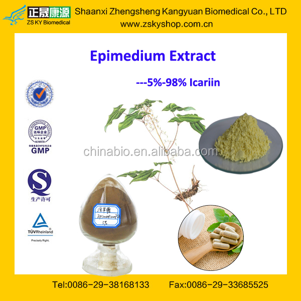 GMP Factory Supply Horny Goat Weed Extract / Epimedium Extract Icariin