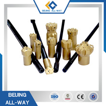 Tapered diamond core drill bits for hard rock drilling tools