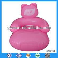 Kids pink inflatable sofa, inflatable sofa chair pink relax