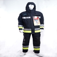 high performance winter nomex firefighter suit with reflective tape EN 469