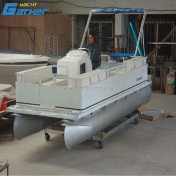 Gather Good Reputation High Quality Alibaba Suppliers Pontoon Passenger Boat for Sale