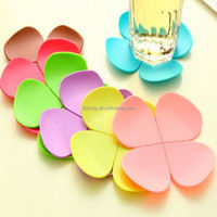 Fancy 3D flower shape Heat insulation silicone cup coaster