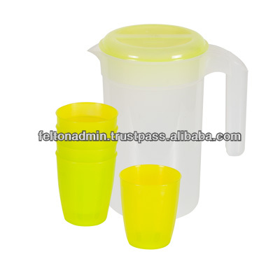 4 Litre Plastic Jug with 5 pcs cup
