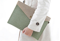 New arrival felt canvas business briefcase office learning A4 envelope file covers