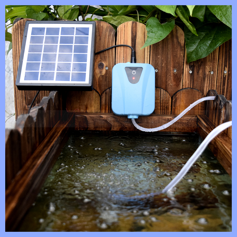 Electric and Solar Powered Air Pump Aquarium Oxygen Pump