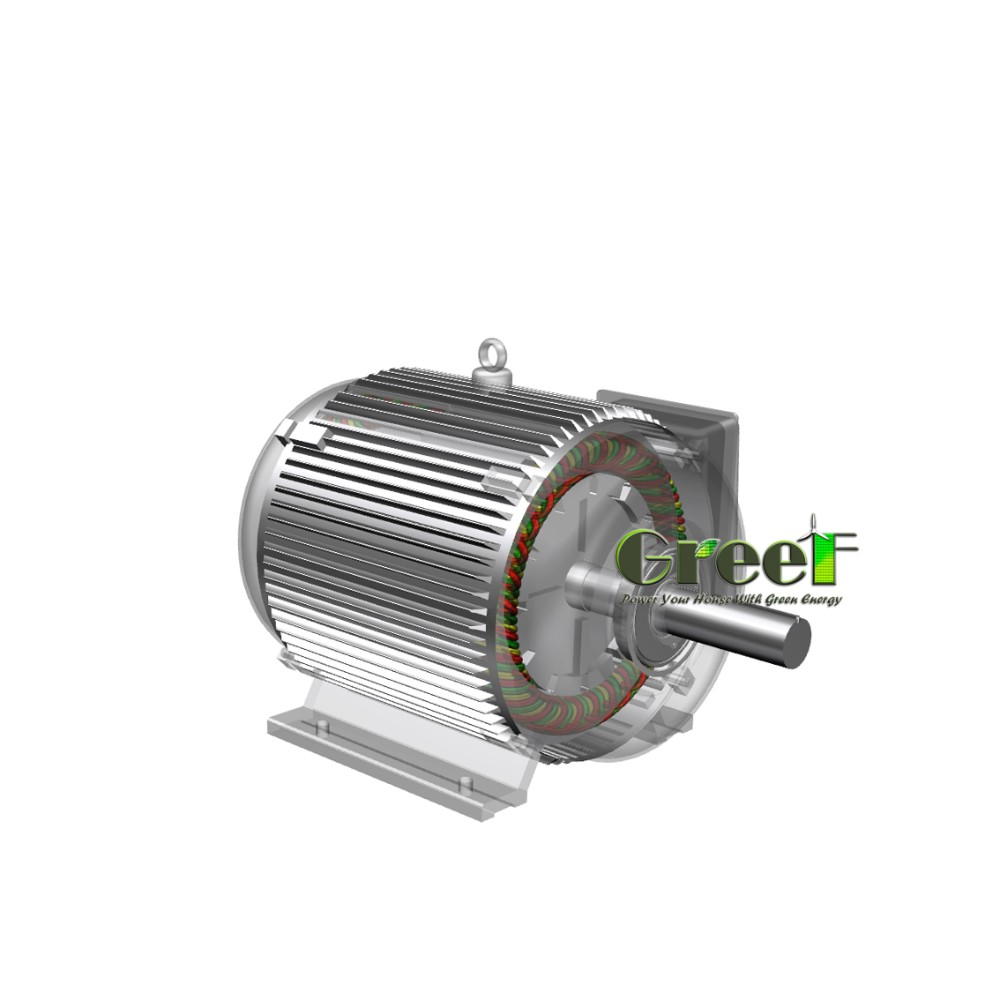 10kW low rpm permanent magnet generator , brushless electric magnetic alternator for hydro project