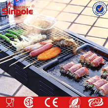 Commercial charcoal bbq grill portable, OEM rectangular charcoal bbq grill