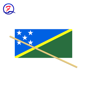 Custom national hand held flag of Solomon Islands country waving flags