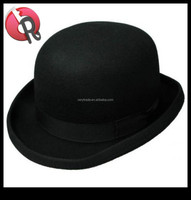 Mens Crushable Wool Felt Derby Hat w/Feather