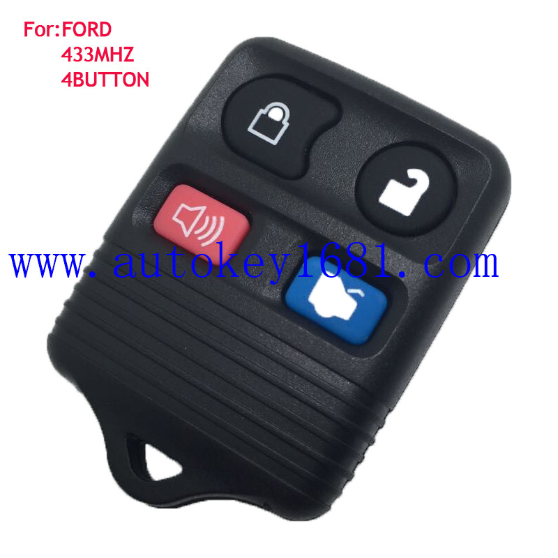 car key for FORD MERCURY Transmitter 4 button 433mhz Keyness Entry remote key control (Fits: 2004 Ford)