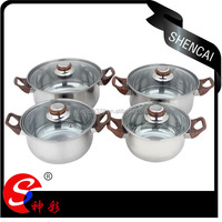 4PCS Hot Sale Stainless Steel Cookware Casserole Sets Cooking Pot