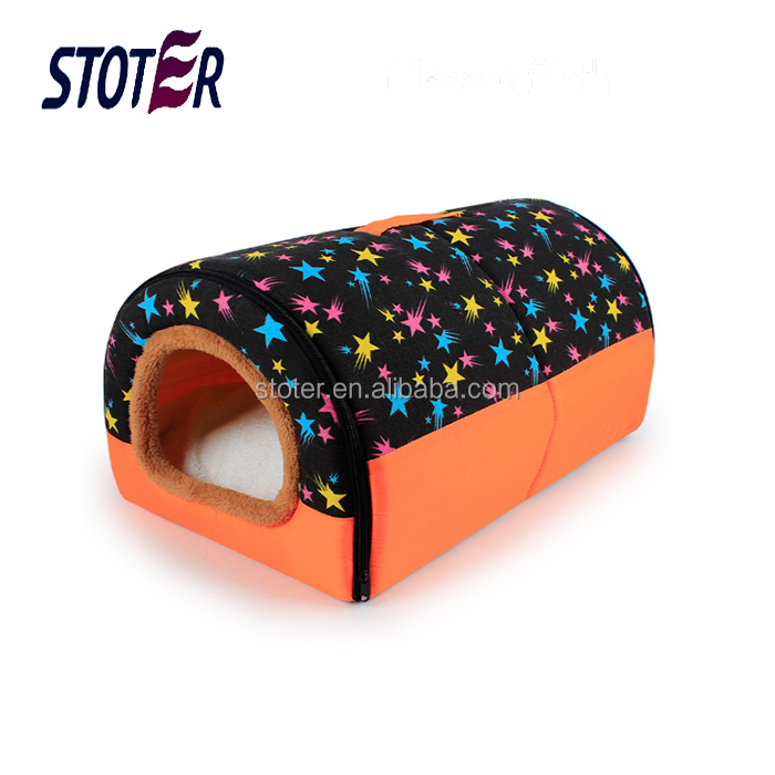 new design luxury tunnel dog beds with removable cushion