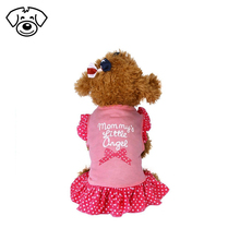 2017 new fashion pink cute pet dress big size dog clothes