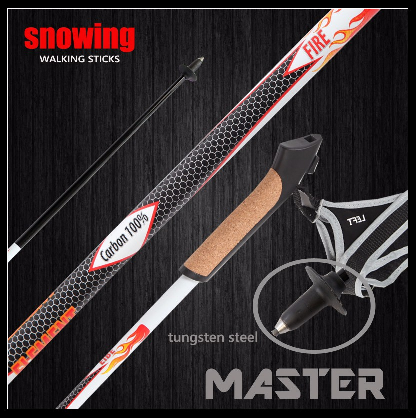 Snowwing new style carbon crutches /walking staff