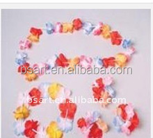 High quality wholesale promotion hawaiian party decorations hawaii flower necklace lei flower lei