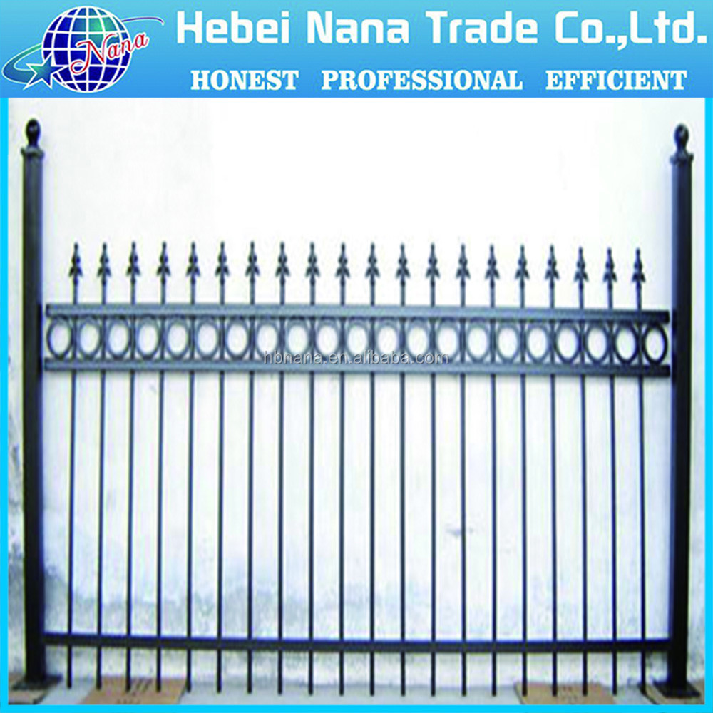 Cheap Galvanized Iron Fence Panel Modern Antique Wrought