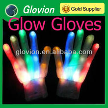 Glow in the dark gloves Flashing kids gloves whole palm lighting gloves