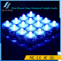 12Pcs Rechargeable Electric Water Submersible Led Tea Lights Candle Blue