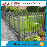 2016 antique decorative CUSTOMIZED galvanized cheap metal sliding square steel fence panels for sale