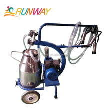YZG-2 Semi-Automatic Dry type Pump Small Milking Machine Double Buckets