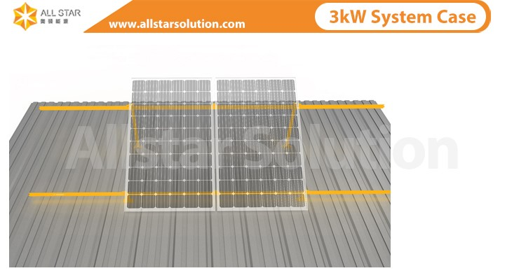 Allstar solar panel mounting system for home | solar panel mounting